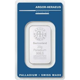 Lingote Argor Heraeus Paladio 20 g