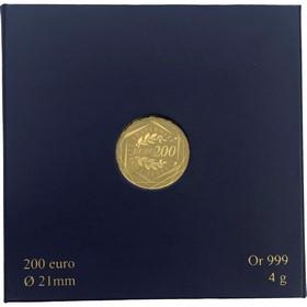 Moneda Francia 200 Euro Oro 2012 4 g